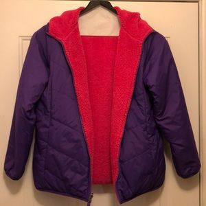 North Face Reversible Girl's Fuzzy Jacket